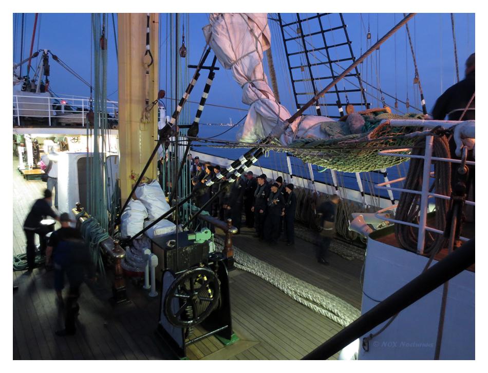 Segelbergen III an Bord der Kruzenshtern