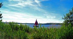 Segelboot auf dem Bergwitzsee