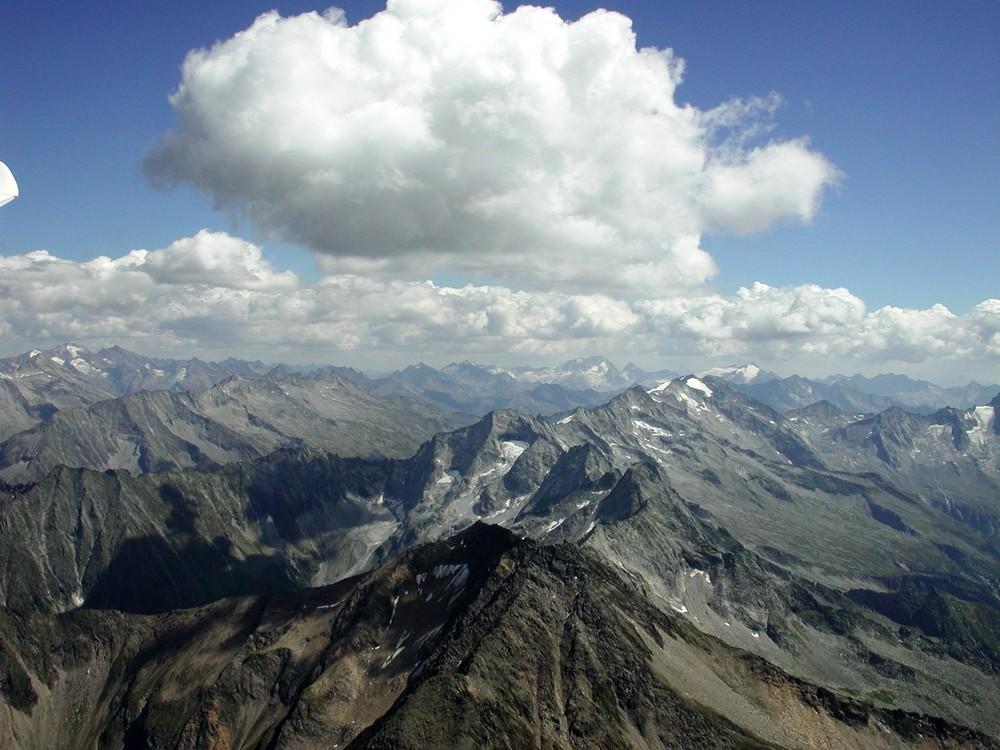 Segelfliegn in den Zillertaler Alpen