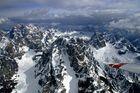 Segelflug über den Dolomiten