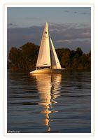 ...... segeln bei Sonnenuntergang......