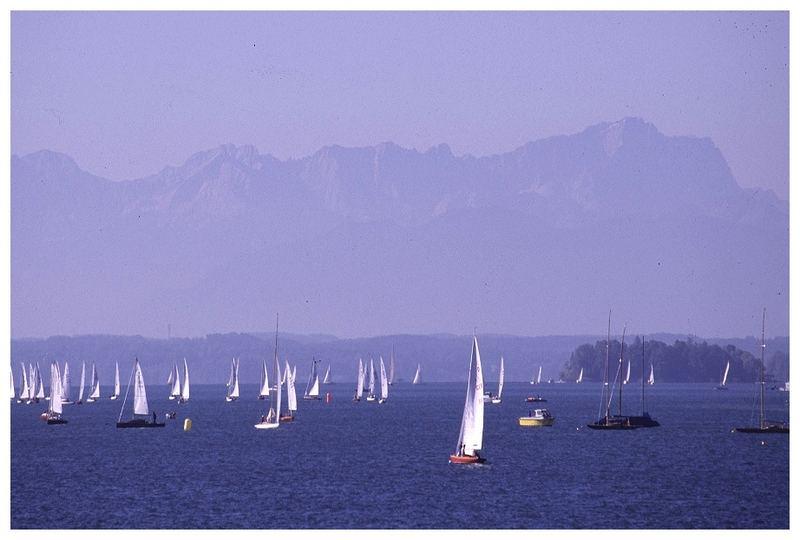Segelregatta auf dem Starnberger See