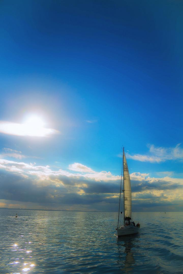 Segelschiff auf Fehmarn