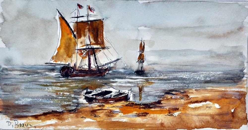 Segler im Hafen .