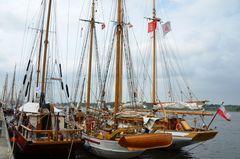 Segler während der Hanse Sail 2013 in Rostock
