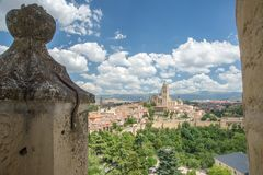 Segovia Cathedral from the Alcazar