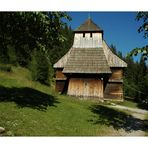 sehr alte Holzkirche, Slowakei
