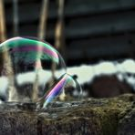 Seifenblase, die nicht einfrieren wollte....