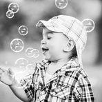 Seifenblasen machen glücklich