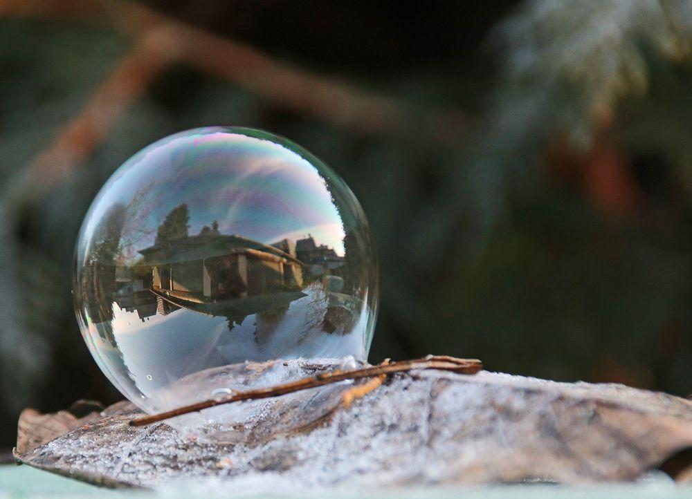 Seifenblasen Winter