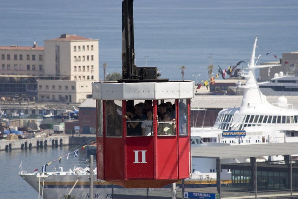 Seilbahn über dem Hafen