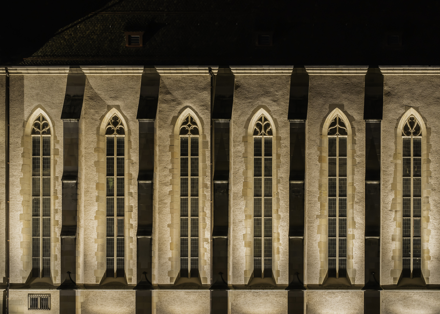 Seitenfassade der Wasserkirche, Zürich