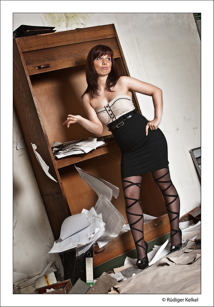 Sekretärin bei der Arbeit