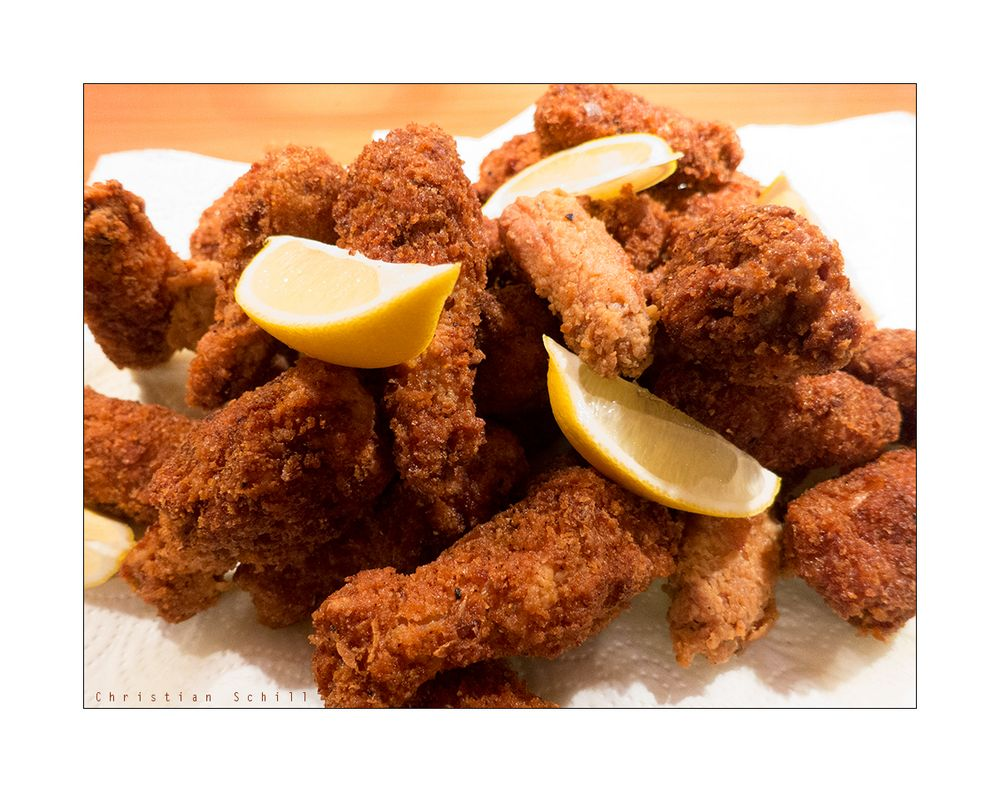 Selbst gemachte Chicken Wings ..