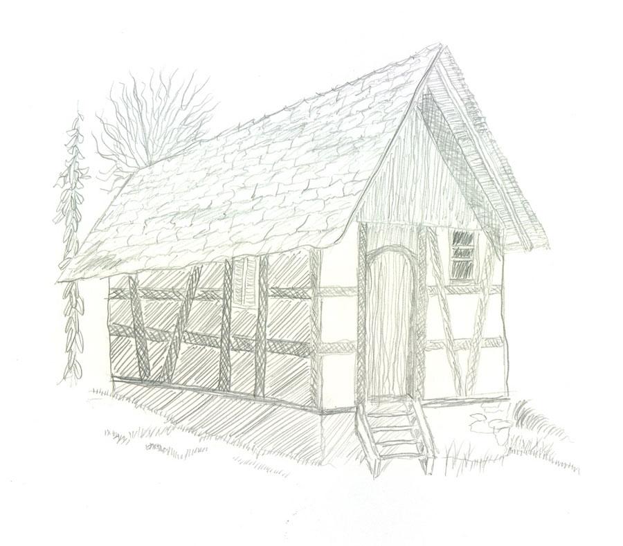 Selbstgemaltes Haus