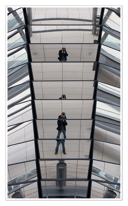 Selbstportät im Reichstag