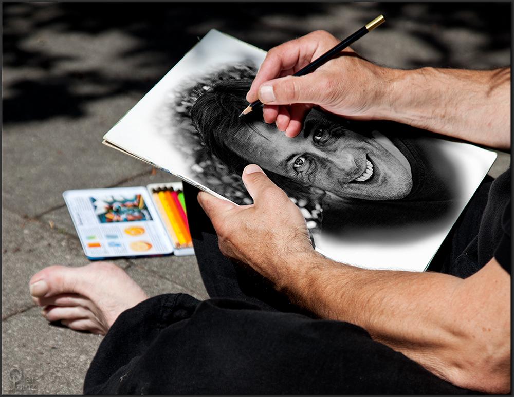 Selbstportrait des Malers