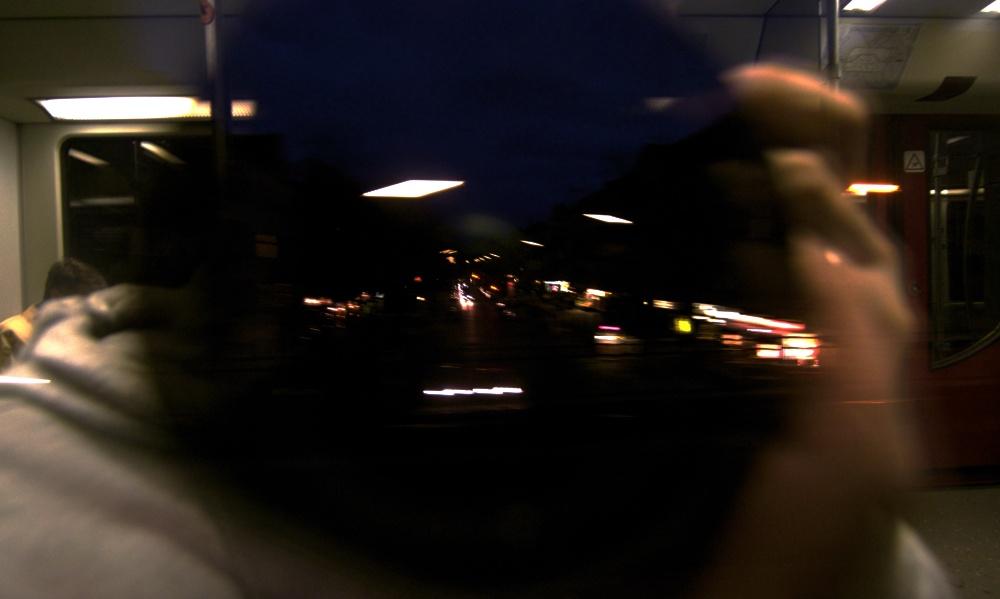 Selbstportrait im S-Bahnzug höhe Wollankstraße