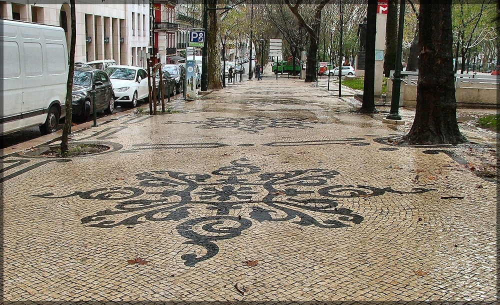 Selciato portoghese a Lisbona