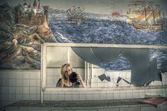 Self mit russischer Malerei