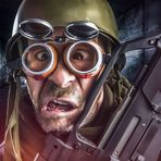 Self Portrait Cartoon - The Soldier