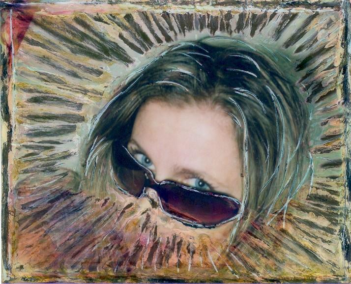 Self portrait with Polaroid