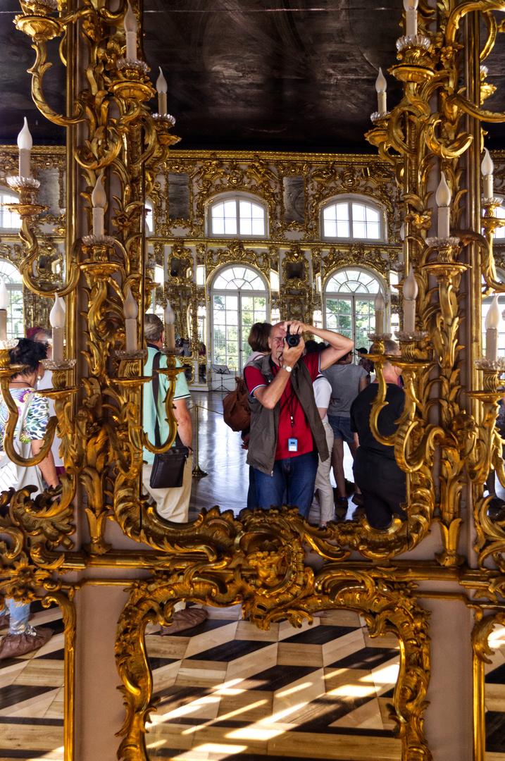 Selfie im Ballsaal vom Katharinenpalast