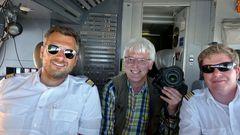 Selfie über dem Äquator