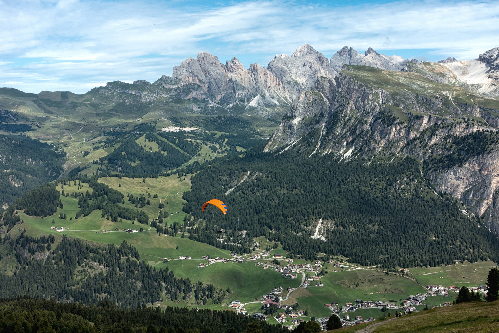 Sellaronda - Blick vom Dantercepies 2.298 m