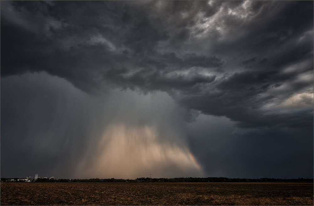 Seltenes Naturereignis:  Regenbombe oder auch Microburst genannt
