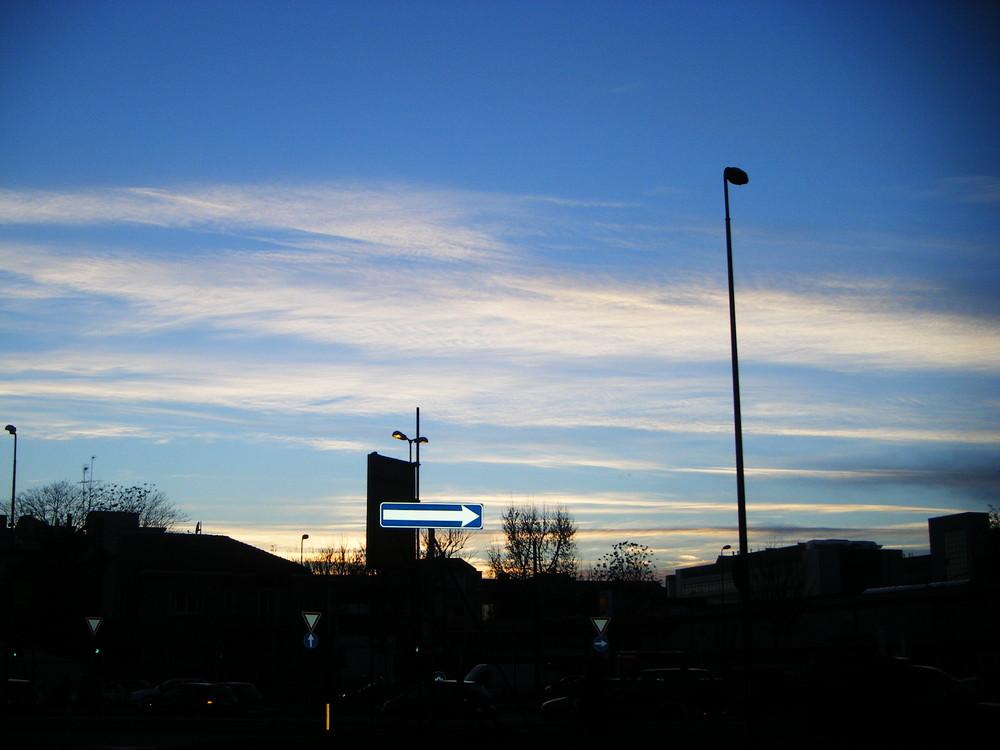 senso unico, sunset