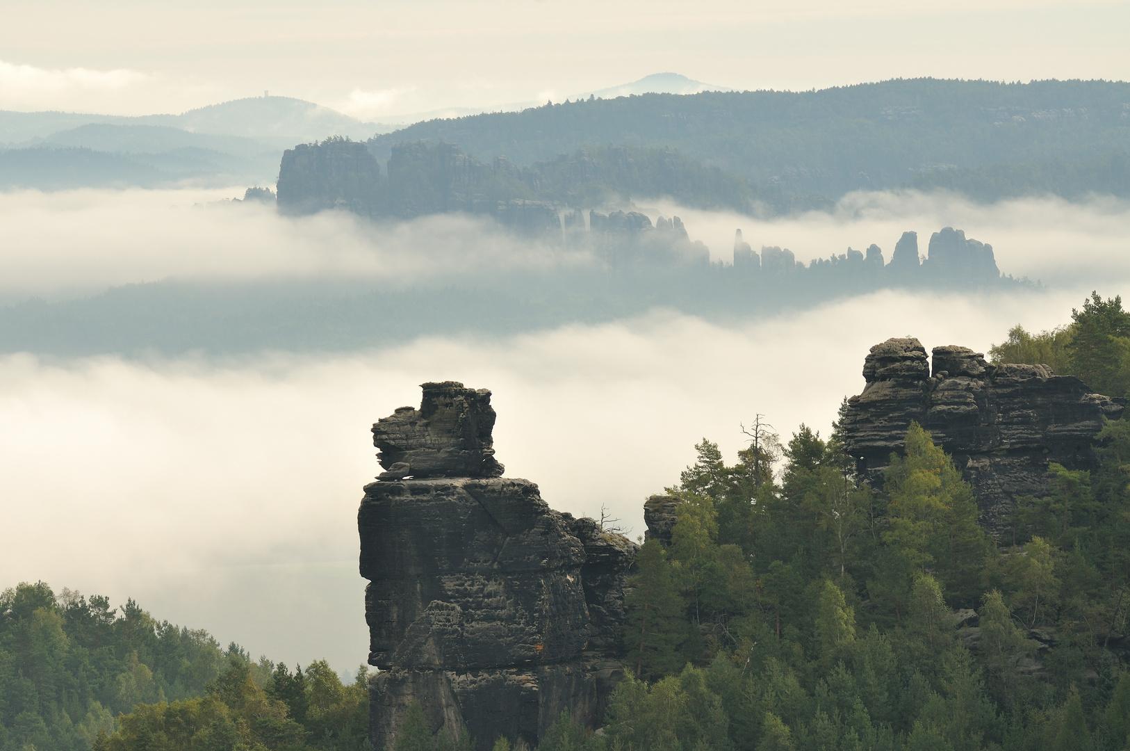 Septembermorgen - Sächsische Schweiz
