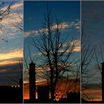 Sequenza di un tramonto.