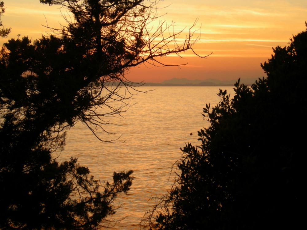 Serata sul golfo di Cagliari