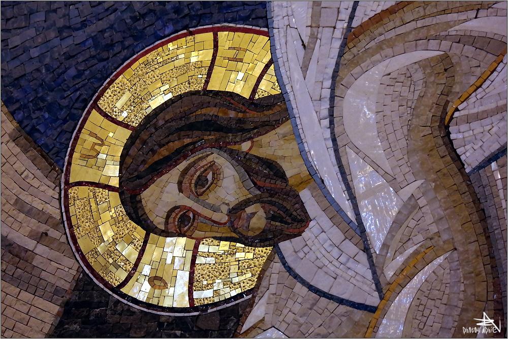 Serbie - Belgrade - Cathédrale St-Sava / Mosaïque