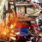 seremonia de fuego q purifica las almas y cuerpo de los presentes y comunidad