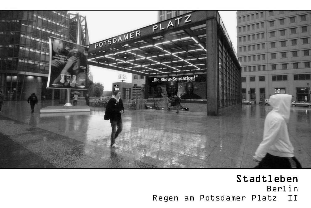 SERIE Stadtleben - Berlin - Regen am Potsdamer Platz II