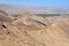Serpentinen in der Wüste um Nazca
