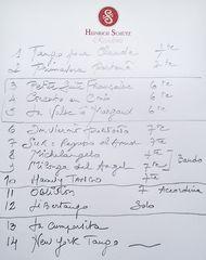 Set-Liste - Richard Galliano Septett