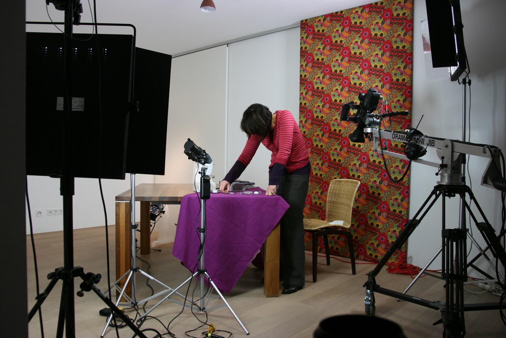 Setfoto Nähmaschinen - Schulungsfilm