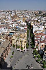 Sevilla . Blick vom Glockenturm
