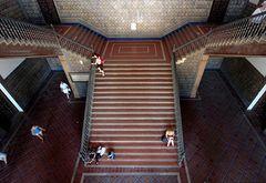Sevilla . Treppenhaus am Plaza de Espana