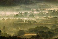 Sguardo sulle delicate nebbie dell'alba