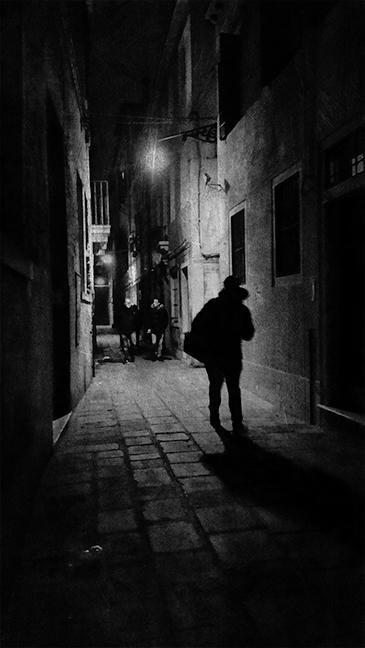 Shadow Man Being Followed