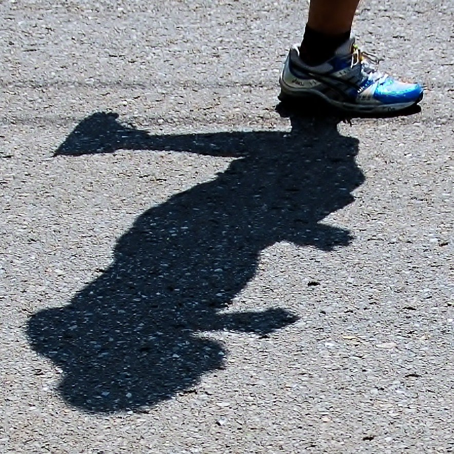 shadow on the run.