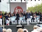 Shantychor-Bühne bei den Matjestagen in Emden