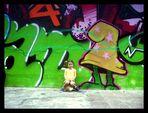 Sharleen & die Grafittiwand