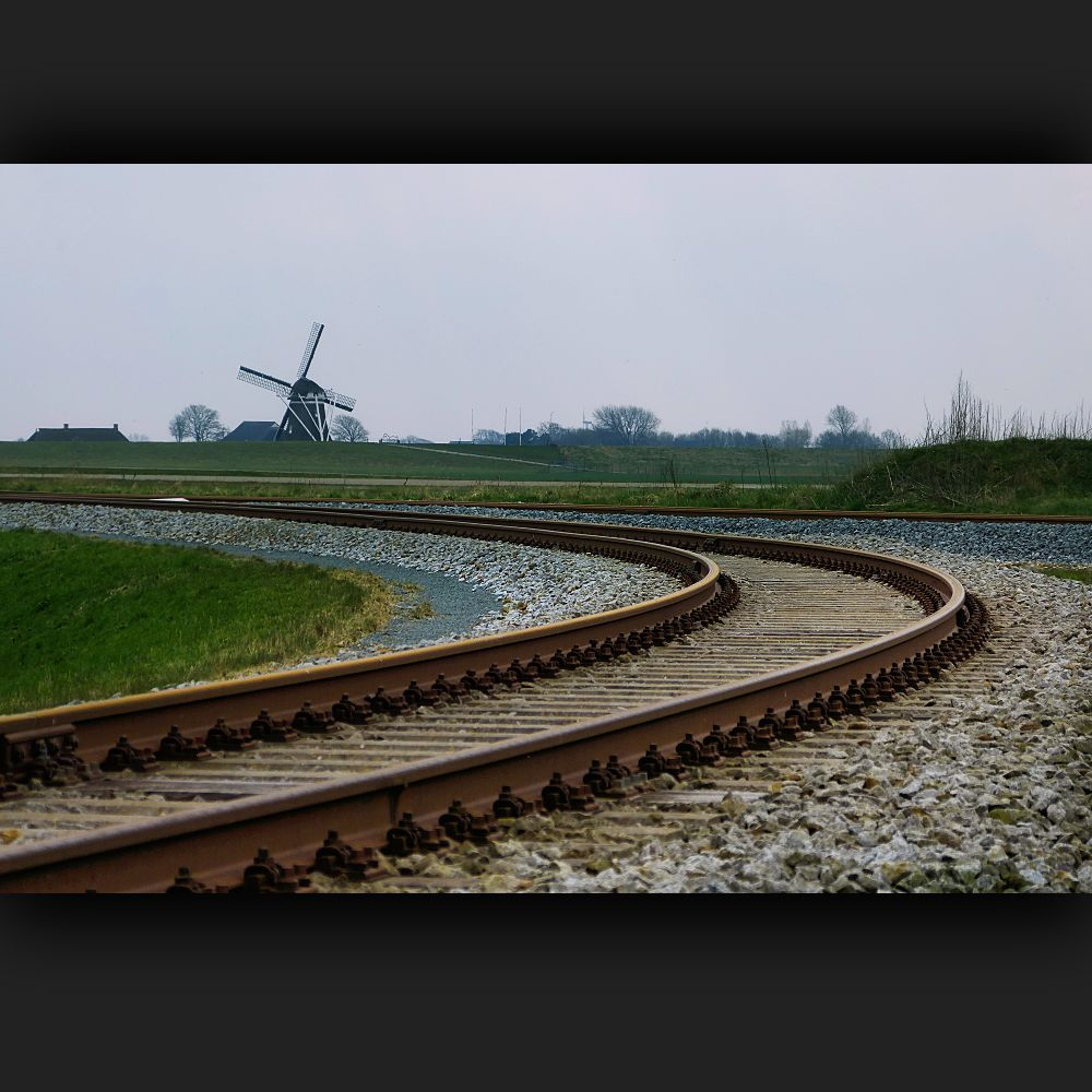 ... sharp bend of the railway