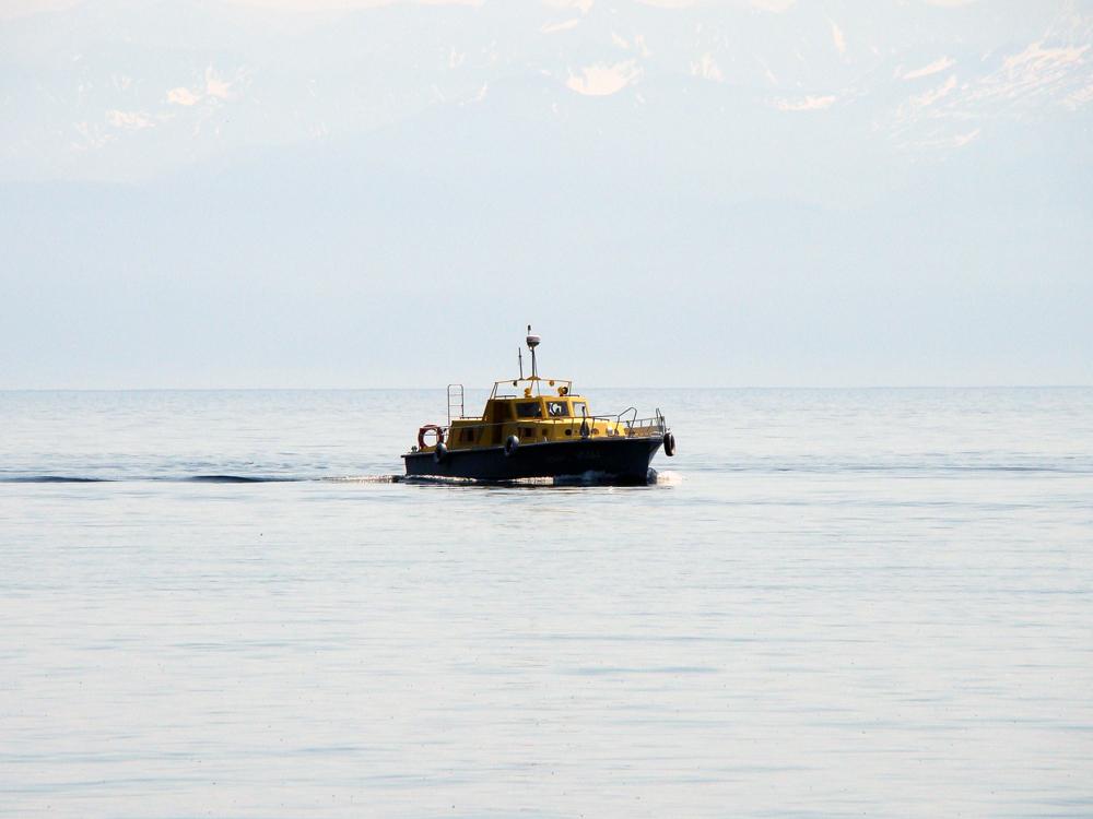 Ship on lake Baikal