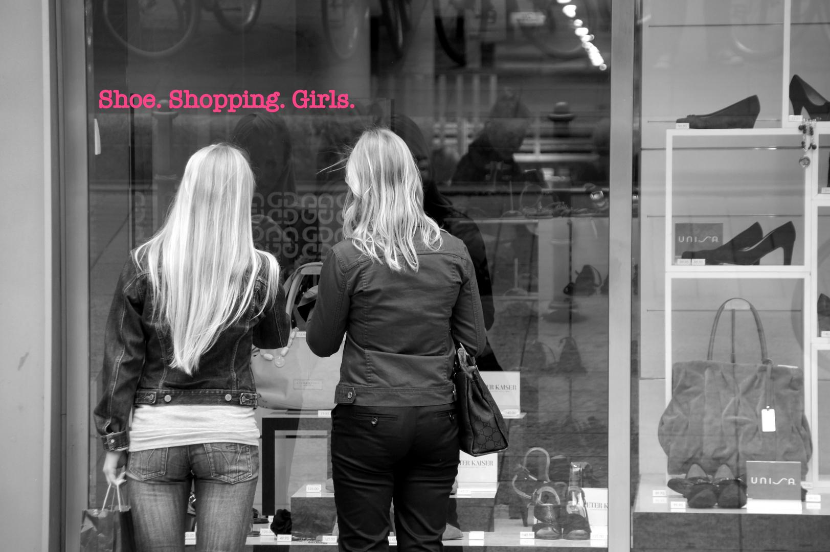 Shoe Shopping Girls.